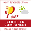 Certified Passivhaus Component_ Warm, temperate climate