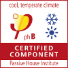 Certified Passivhaus component_Cool, temperate climate